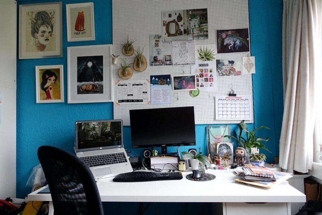 Blogging workspace desk